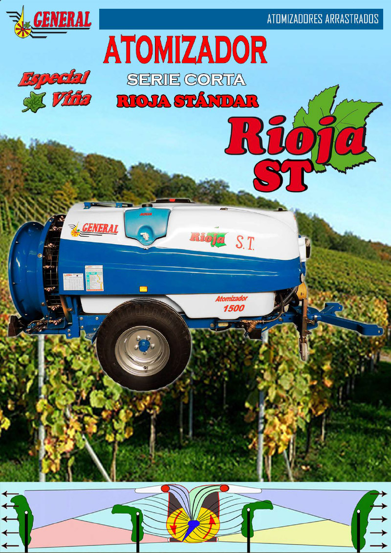 Atomizador arrastrado Rioja