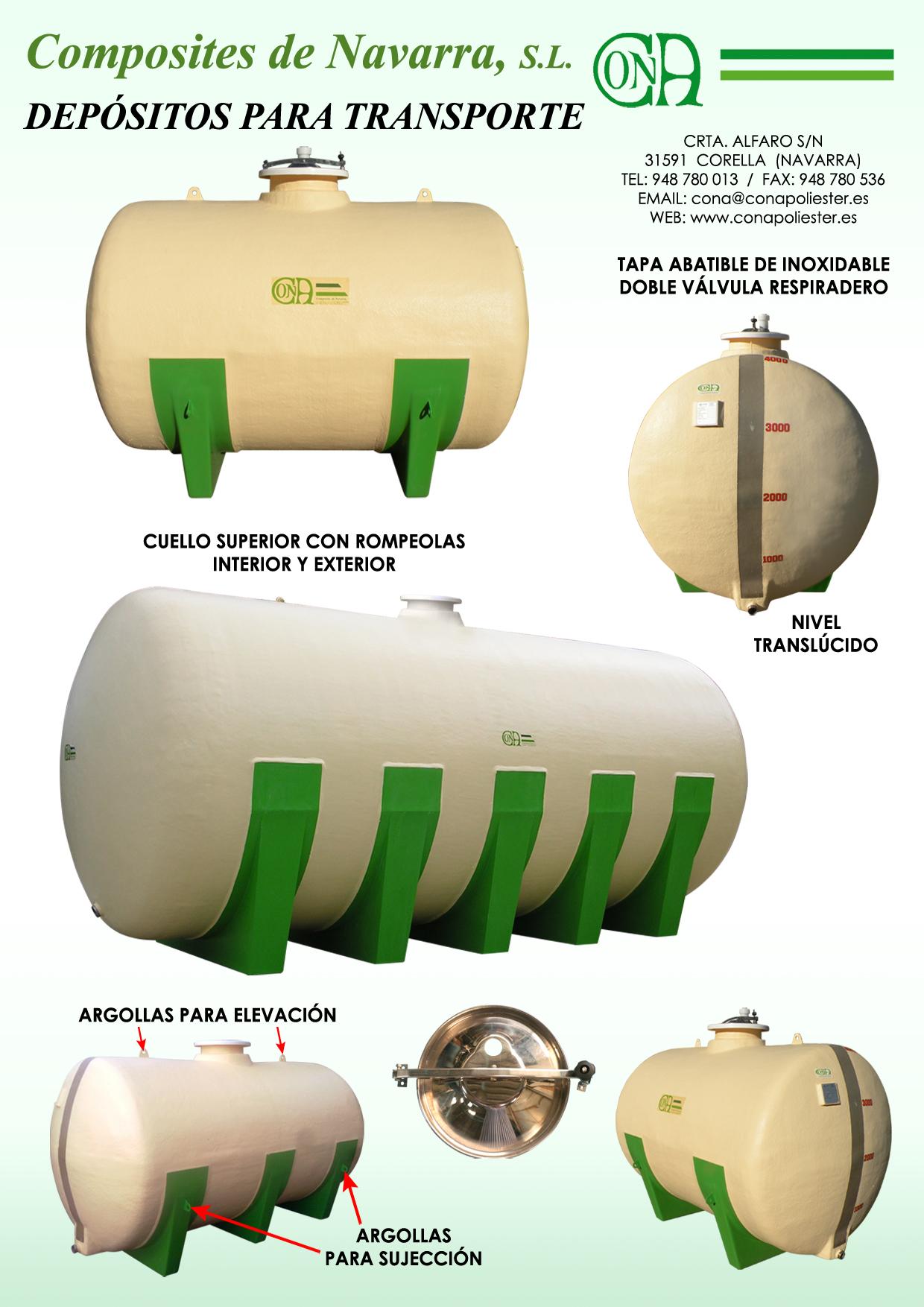 Depósitos horizontales para transporte