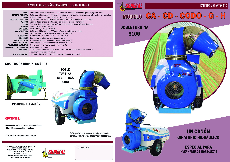 Cañón arrastrado CA-CD-CODO-G-H